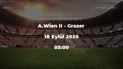 A.Wien II - Grazer