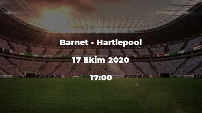 Barnet - Hartlepool