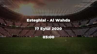 Esteghlal - Al Wahda