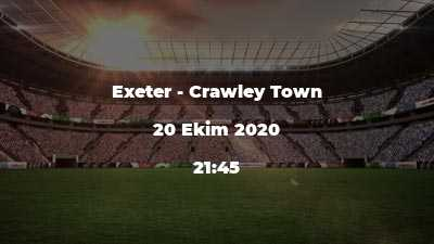 Exeter - Crawley Town