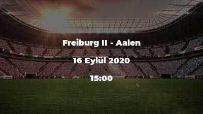 Freiburg II - Aalen
