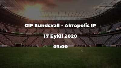 GIF Sundsvall - Akropolis IF