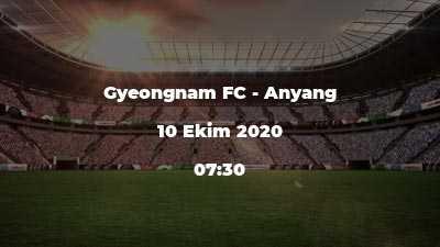 Gyeongnam FC - Anyang