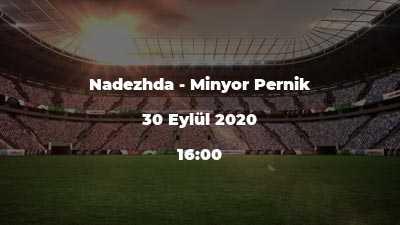 Nadezhda - Minyor Pernik