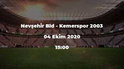 Nevşehir Bld - Kemerspor 2003