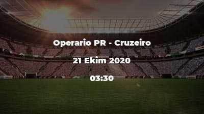 Operario PR - Cruzeiro