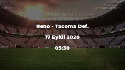 Reno - Tacoma Def.