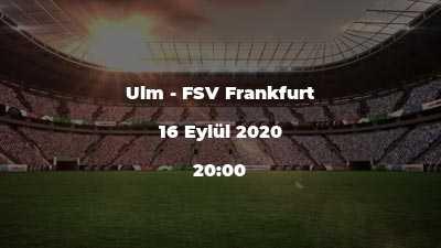 Ulm - FSV Frankfurt
