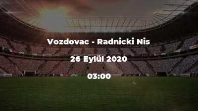 Vozdovac - Radnicki Nis