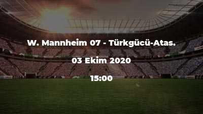 W. Mannheim 07 - Türkgücü-Atas.