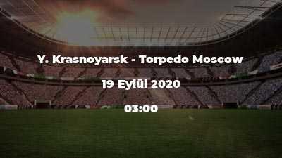 Y. Krasnoyarsk - Torpedo Moscow